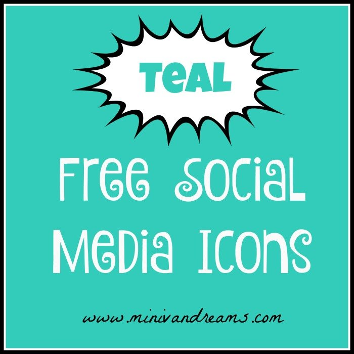 Free Teal Social Media Icons | Mini Van Dreams