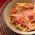 Fettuccine with Creamy Tomato Sauce | Mini Van Dreams