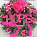 Breast Cancer Awareness Wreath | Mini Van Dreams