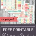 Free Printable Planner Stickers - Hot Summer Day | Mini Van Dreams