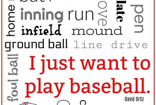 Baseball Subway Art Free Printable | Mini Van Dreams