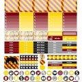 Free Printable Planner Stickers - Griffindor | Mini Van Dreams