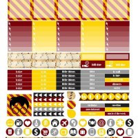 Free Printable Planner Stickers - Griffindor