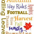 Autumn Subway Art Free Printable | Mini Van Dreams