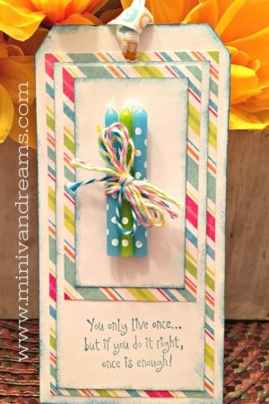 Easy Birthday Gift Tag   Mini Van Dreams