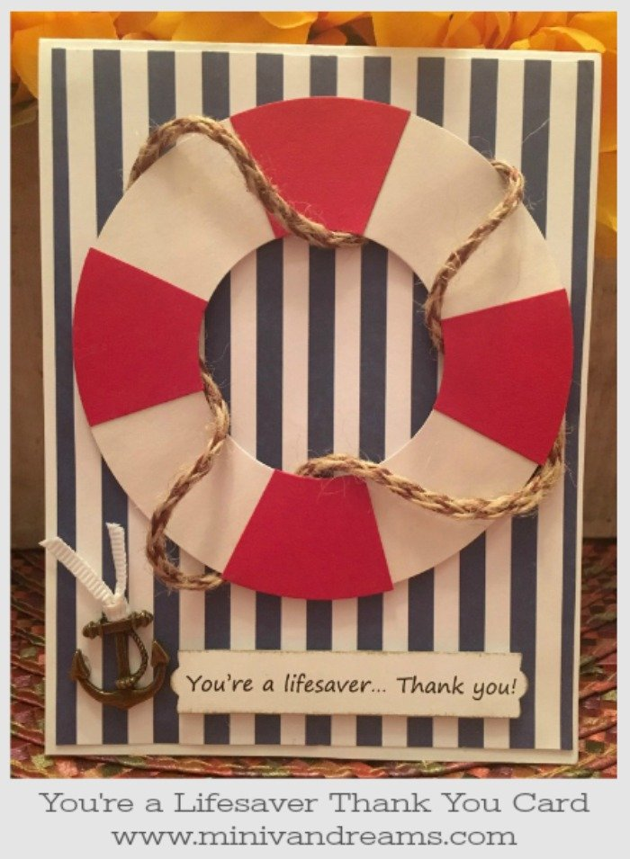 You're a Lifesaver Thank You Card | Mini Van Dreams