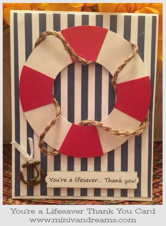 You're a Lifesaver Thank You Card | Mini Van Dreams