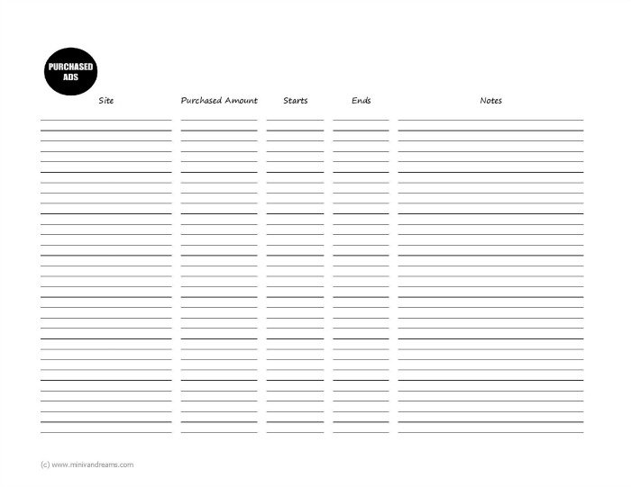 Free 2018 Blog Planner Printable | Mini Van Dreams