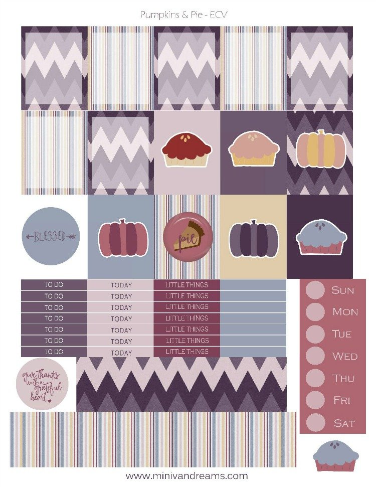 Free Printable Planner Stickers - Pumpkins & Pie