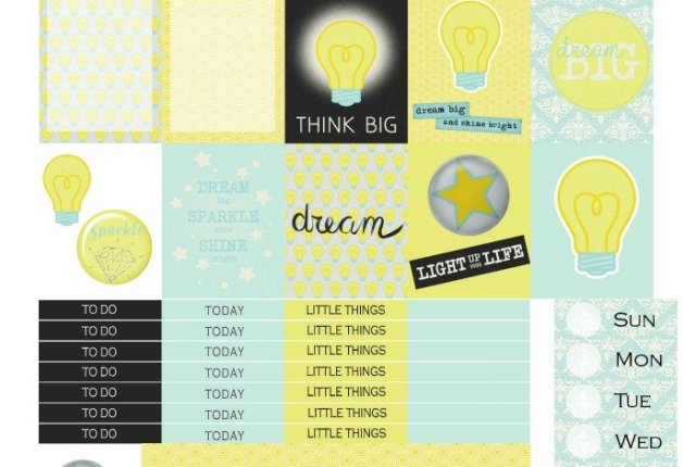 Free Printable Planner Stickers: Dream Big | Mini Van Dreams