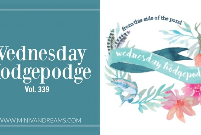 Wednesday Hodgepodge Vol. 339 | Mini Van Dreams