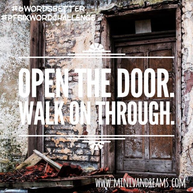 Six Word Stories: Open Door | Mini Van Dreams