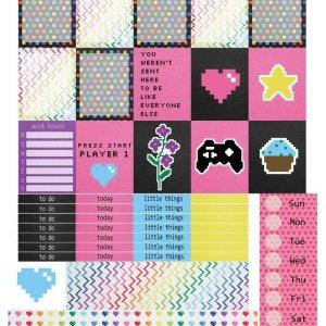 Free Printable Planner Stickers: Video Game Valentine | Mini Van Dreams