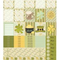 Free Printable Planner Stickers: St Patricks Day - ECV & HP