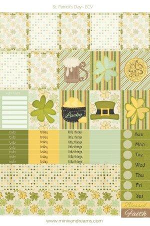 Free Printable Planner Stickers: St. Patrick's Day   Mini Van Dreams