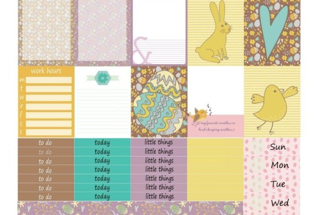 Free Printable Planner Stickers - Easter (HP & ECV) | Mini Van Dreams