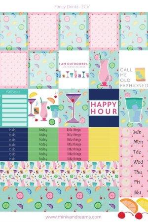 Free Printable Planner Stickers: Fancy Drinks   Mini Van Dreams