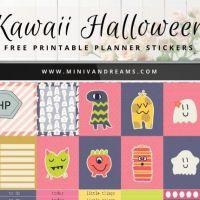 Free Printable Planner Stickers: Kawaii Halloween (ECV & HP) + BONUS