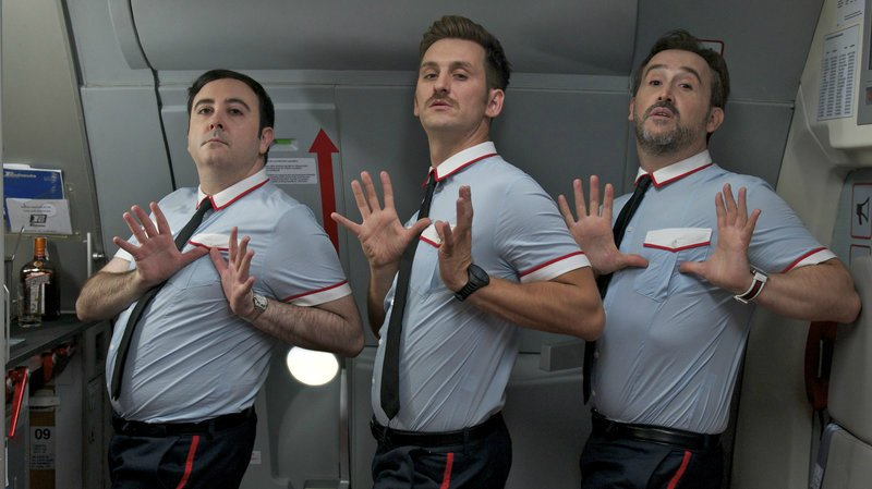 how to survive a long-haul flight @minkaguides © Sony Pictures Classics I'm So Excited by Pedro Almodóvar 2