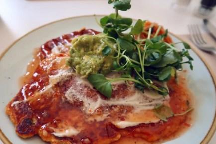 Best brunch in Barcelona @minkaguides Little Fern Kimchi Pancakes