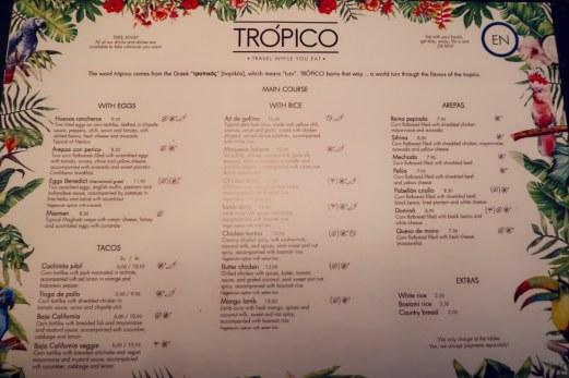 Best brunch in Barcelona @minkaguides Tropico brunch menu