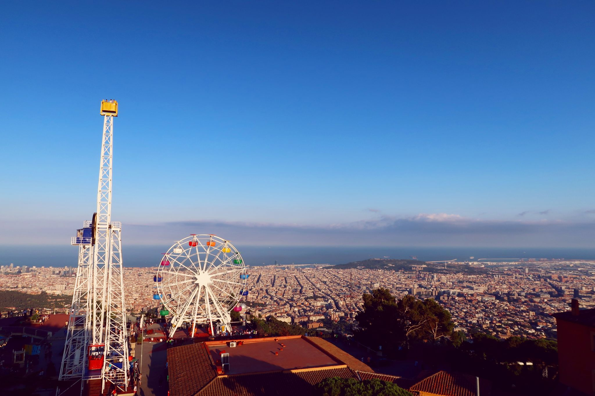 Things to do in Barcelona @minkaguides Mount Tibidabo view