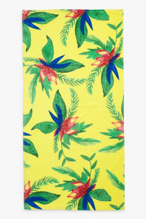 Monki Yellow Beachy towel