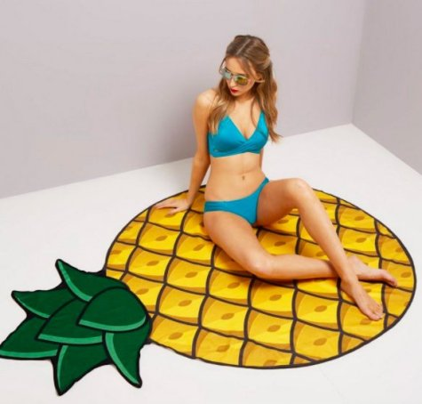 New Look Yellow Pineapple Beach Blanket
