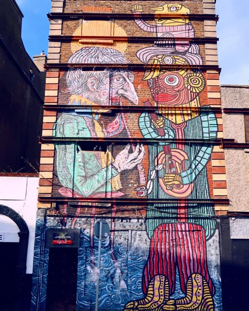 Dublin street art @minkaguides Smithfield Square