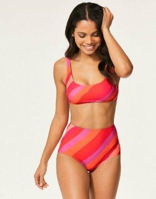 Cute swimsuits Figleaves Sao Paulo Stripe Soft Crop Bikini Top CREDIT Figleaves