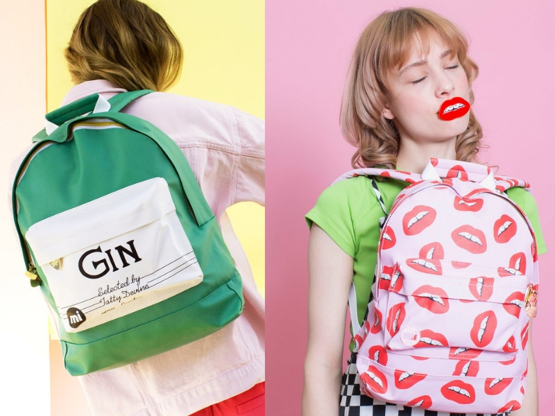 Gifts for travel lovers @tattydevine Tatty Devine x Mic-Pac backpacks
