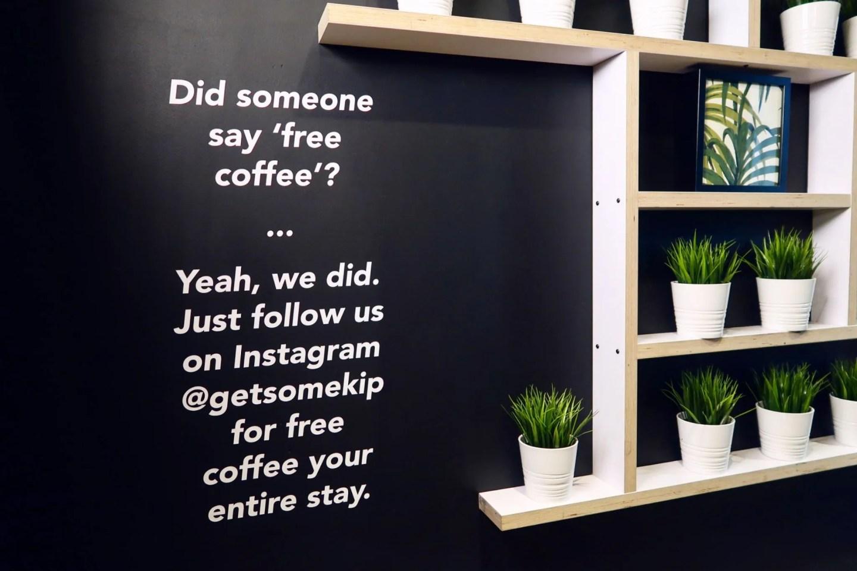 Kip Hotel Hackney @minkaguides free coffee