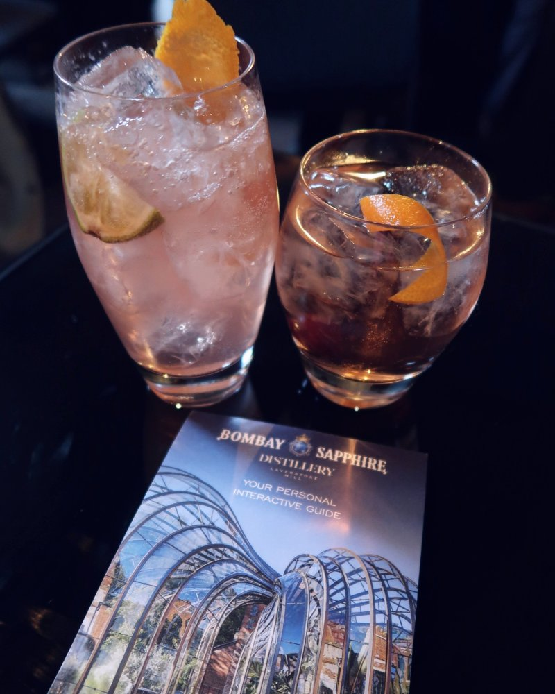 Bombay Sapphire Distillery tour @minkaguides free cocktails