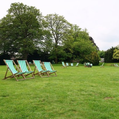 Bletchley Park Museum deck chairs CREDIT_ © Minka Guides