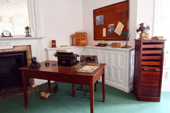 Bletchley Park Museum office in mansion CREDIT_ © Minka Guides