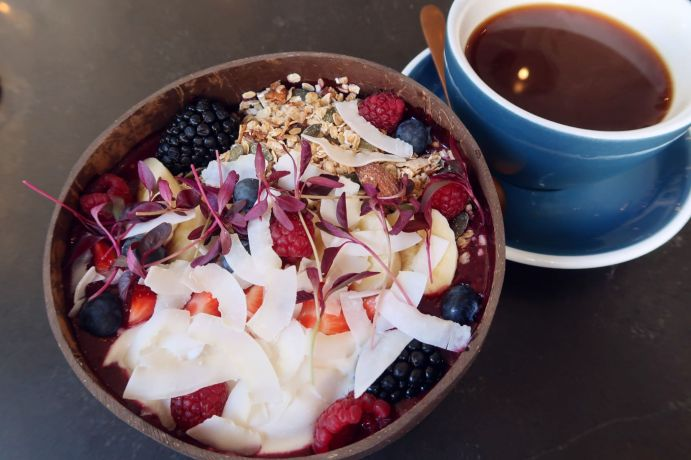 Things to do in Bristol - East Village Cafe acai bowl CREDIT_ © Minka Guides