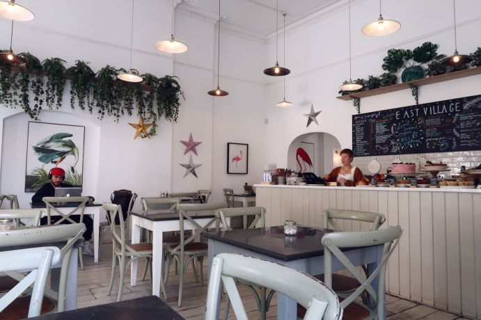 Things to do in Bristol - East Village Cafe interior CREDIT_ © Minka Guides