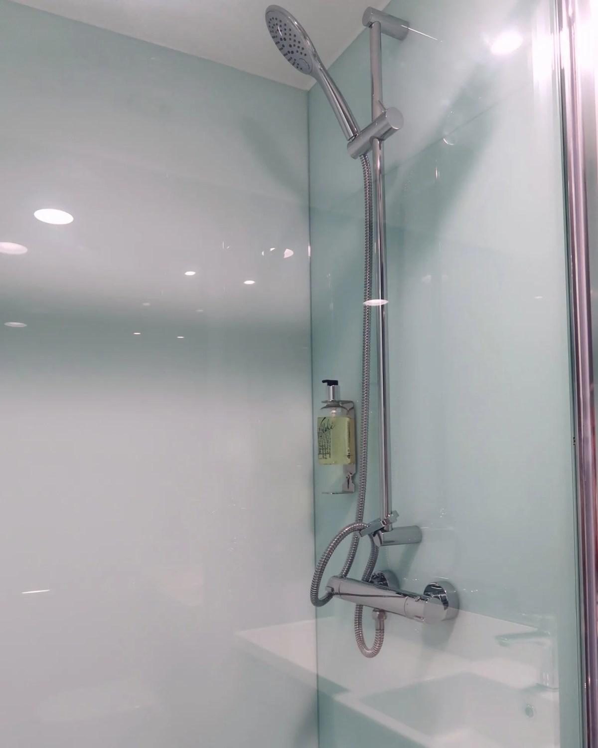 easyHotel Old Street shower CREDIT Minka Guides