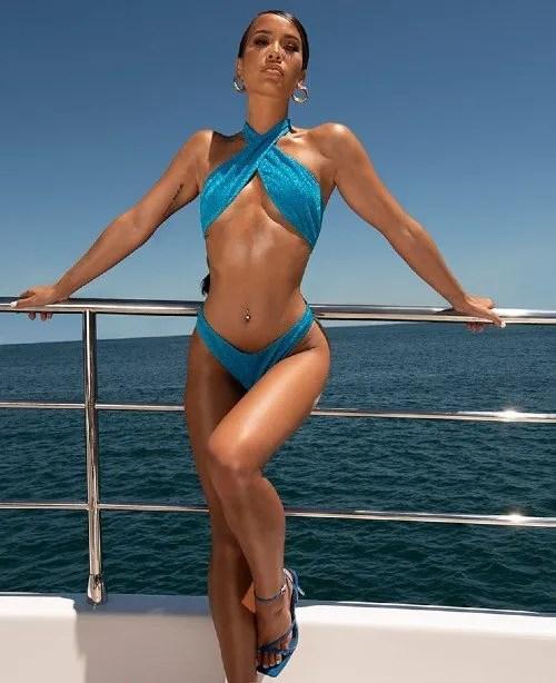 Cute swimsuits - PrettyLittleThing Blue Glitter Cheeky Bikini CREDIT PrettyLittleThing