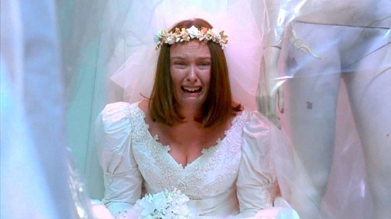 cMonogamy mononormativity crying bride CREDIT 'Muriel's Wedding' (1994) © Miramax