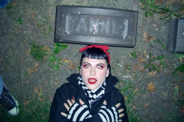 SuicideGirls Blackheart Burlesque - Fanny Suicide in a Cleveland graveyard CREDIT Fractal Suicide