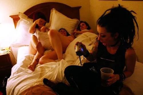 SuicideGirls Blackheart Burlesque hotel room party CREDIT Reagan Suicide