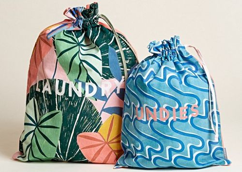Gifts for travel lovers - laundry bags CREDIT Oliver Bonas