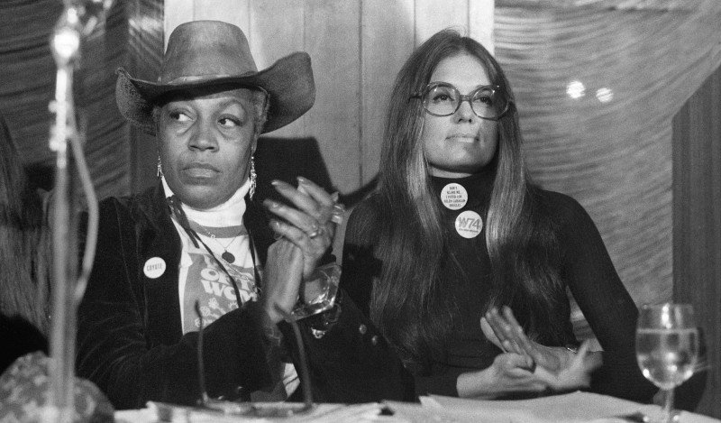 Turning 40 - Florynce Kennedy & Gloria Steinem - National Women's Political Caucus - March 3, 1974 CREDIT John Sotomayor - The New York Times