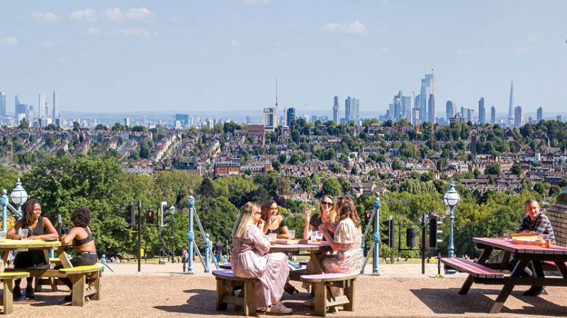 Spring in London - The Terrace CREDIT Alexander Palace