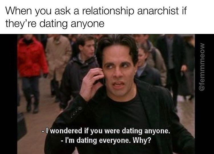 Polyamory memes and tweets - relationship anarchist CREDIT femmmeow