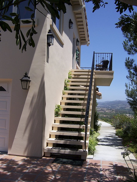 Modern Staircase Design Outside Home | Modern Staircase Design Outside Home | Msmedia | Stair Case | Spiral Staircase | Decorative Wrought | Iron Railings