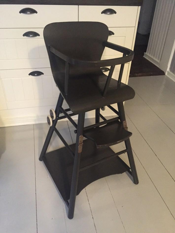 retro barnstol grå