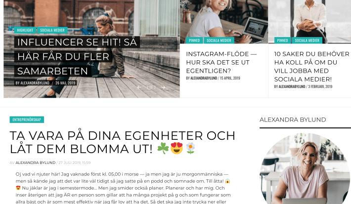 Bloggar Alexandra Bylund