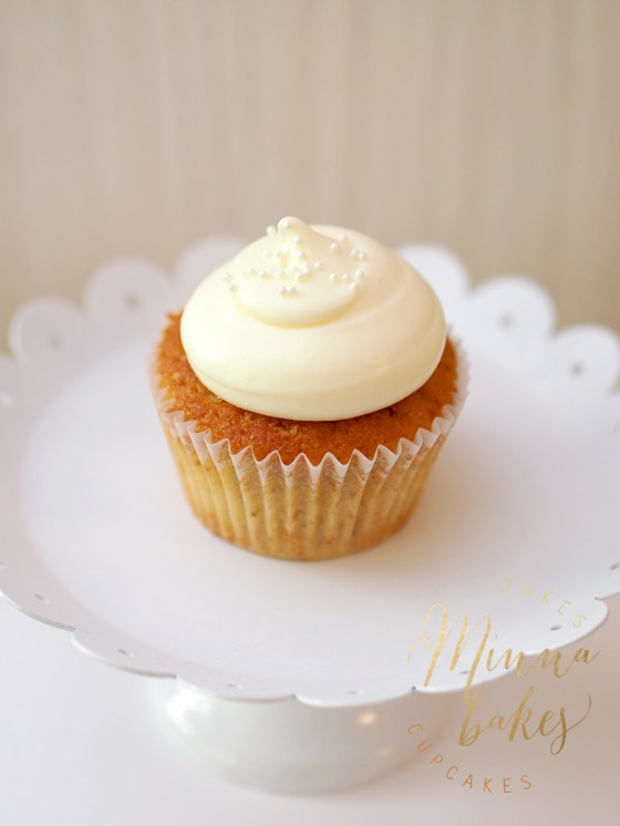 banana cupcake minnabakes cream cheese frosting